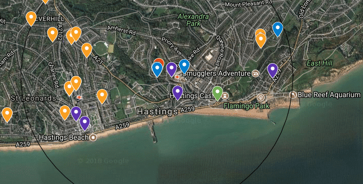 Social Care Map of Hastings