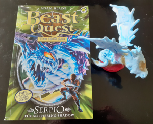 Beast Quest book and model - a source of inspiration for Gabriella