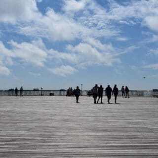 Group on Hastings Pier