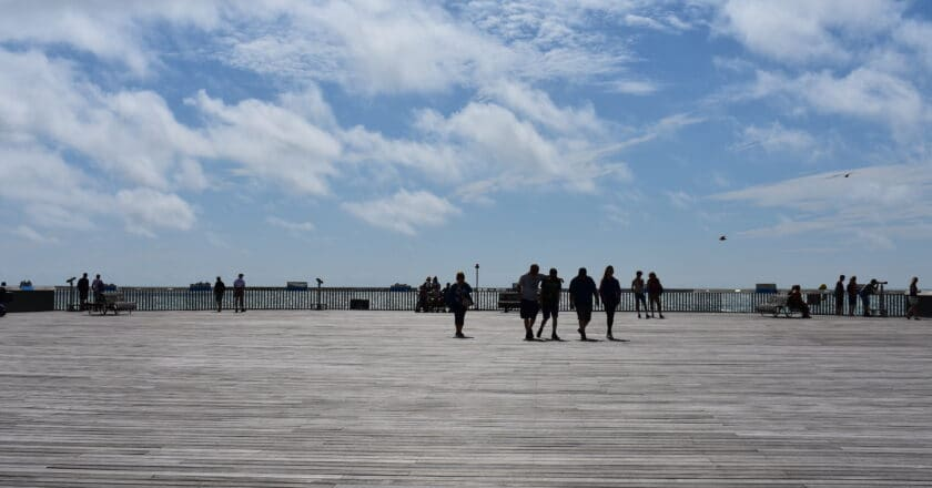 Group on Hastings Pier