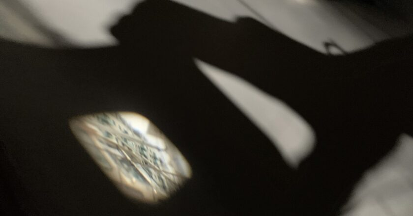 Projected image in the camera obscura