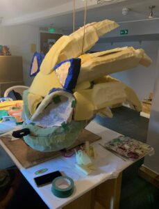 Lucy's Sonic head continues to take shape