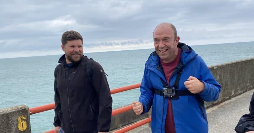 Paul exploring the marina